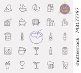 linear drinks icons set.... | Shutterstock .eps vector #743177797