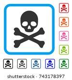 skull and crossbones icon. flat ...   Shutterstock .eps vector #743178397