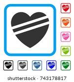 sick heart icon. flat gray...