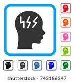 headache icon. flat grey iconic ... | Shutterstock .eps vector #743186347