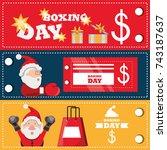 boxing day design | Shutterstock .eps vector #743187637