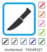 knife icon. flat grey iconic...