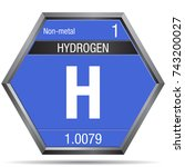 hydrogen symbol in the form of...   Shutterstock .eps vector #743200027
