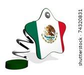 mexico flag spring banner | Shutterstock . vector #74320831