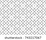 abstract seamless white and... | Shutterstock .eps vector #743217067