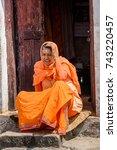 katmandu  nepal   mar 6  2017 ... | Shutterstock . vector #743220457