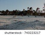 beach sunset | Shutterstock . vector #743223217