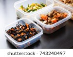 home cooked meal   Shutterstock . vector #743240497