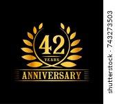 42 years anniversary logo...   Shutterstock .eps vector #743273503