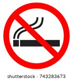 no smoking | Shutterstock .eps vector #743283673