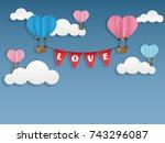 vector illustration of two hot... | Shutterstock .eps vector #743296087