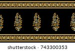 seamless traditional indian... | Shutterstock . vector #743300353
