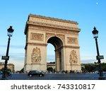 arc de triomphe paris | Shutterstock . vector #743310817