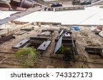 rovinj croatia  old town... | Shutterstock . vector #743327173
