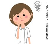 nurse be worried | Shutterstock .eps vector #743339707