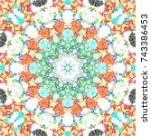 colorful mosaic pattern for... | Shutterstock . vector #743386453