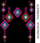 ethnic design art | Shutterstock . vector #743386573
