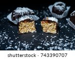 candies and sweets made from... | Shutterstock . vector #743390707