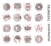 vector icon set for artificial...