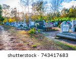 Small photo of Swiecie, POLAND - OCTOBER 27, 2017: Cemetary with colorful candles for All Saints Day in Poland. All Saints' Day is a solemnity celebrated on 1 November by the Catholic Church.