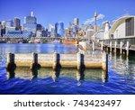 darling harbour  sydney ...   Shutterstock . vector #743423497