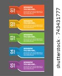 colorful infographic in five... | Shutterstock .eps vector #743431777