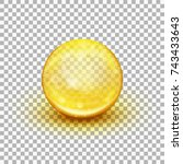 transparent soft gel capsule... | Shutterstock .eps vector #743433643