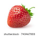 isolated strawberry. single... | Shutterstock . vector #743467003