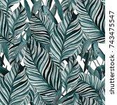 watercolor seamless pattern...   Shutterstock . vector #743475547