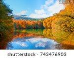 autumn landscape in  seven... | Shutterstock . vector #743476903