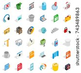 working file icons set.... | Shutterstock . vector #743489863