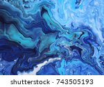 Dark Blue Marble Color Mix ...
