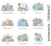 social media  digital and... | Shutterstock .eps vector #743506627