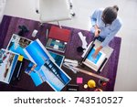 young people and small business.... | Shutterstock . vector #743510527