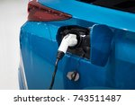 fcv  fuel cell vehicle and... | Shutterstock . vector #743511487
