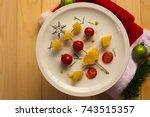 Christmas Tree Fruits On Plate...