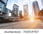 modern city  hong kong  china.  | Shutterstock . vector #743519707