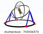 the robot on simulator.... | Shutterstock . vector #743536573
