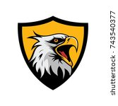 eagle mascot logo vector design ... | Shutterstock .eps vector #743540377