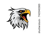 eagle mascot logo vector design ... | Shutterstock .eps vector #743540383