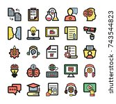 school and education icons... | Shutterstock .eps vector #743544823