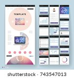 website template design with... | Shutterstock .eps vector #743547013