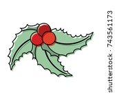 christmas pick vector... | Shutterstock .eps vector #743561173