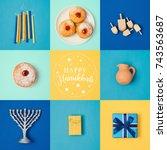 Jewish Holiday Hanukkah Banner...