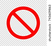 stop icon on transparent... | Shutterstock .eps vector #743609863