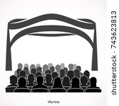 illustration of theatre with... | Shutterstock .eps vector #743623813