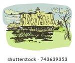 vector illustration of rural