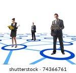 man and woamn standing on 3d...   Shutterstock . vector #74366761