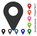 map marker icon. flat grey...