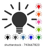 light bulb icon. flat grey...   Shutterstock .eps vector #743667823